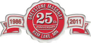 Greystone Masonry celebrates 25 years servicing the twin Cities area with its Concrete needs.